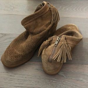 ISABEL MARANT Brown Suede Ankle Boots